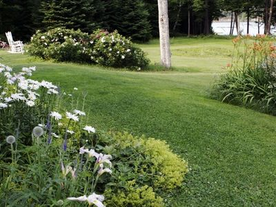 Groomed grounds with perennial and herb gardens(for your picking pleasure)