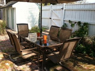Provincetown condo photo - This is the beautiful relaxing fenced courtyard shared by only 5 units.