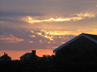 North Truro house photo - Bill captures the start of a magnificent sunset sky