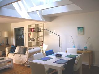 Sag Harbor house photo - Living / Dining area (with skylight). - picture taken in the afternoon