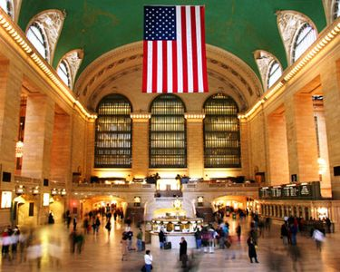 Grand Central Station, saved and restored by Jackie Kennedy, a national treasure