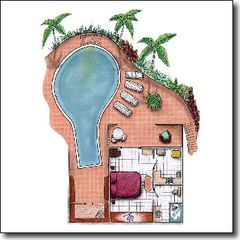 Marigot Bay apartment photo - first level floor plan unit 1