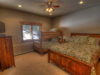 Estes Park house photo - Lower Level Queen Bedroom with Bunk Beds