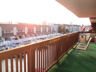 9400 Oceanside Ocean City condo photo - Big Balcony 33ft long to View Sunrise