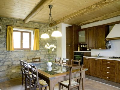 Casa Bosco - kitchen and dining area