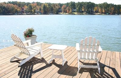 Relaxing view of Lake Oconee from private dock.