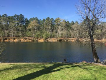 Hot Springs house rental - spring lake view, is Ouachita National Forrest