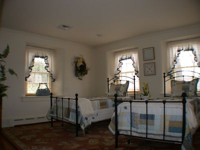 Bedroom 3 is spacious with 2 twin beds