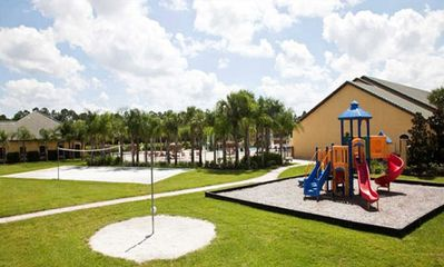 RESORT PLAYGROUND, VOLLEYBALL COURT AND TETHERBALL