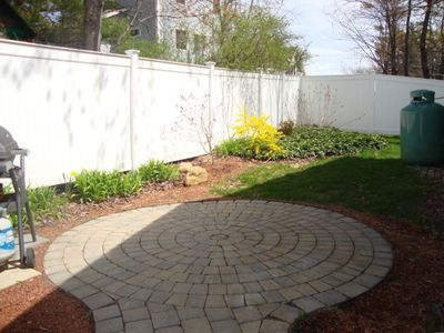 Back paver patio