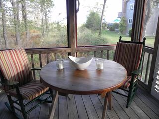 Kennebunkport cabin photo - Screened Porch