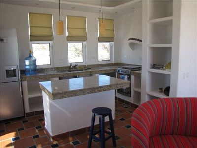 Casita features a full kitchen.