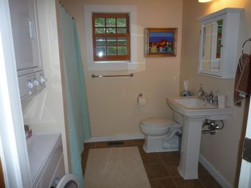 1 of 2 Full Bathrooms, new washer and dryer