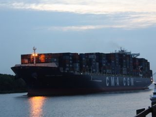 Savannah condo photo - Largest Cargo Ship Came Thru Recently