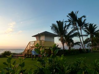 Kihei condo photo - Lifeguard lookout at dusk.