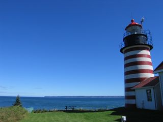 Machiasport cottage photo - The scenic West Quoddy Head Lighthouse in Lubec