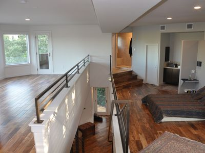 Grand Loft Master Suite--Opens to Canyon Tree Tops and Hill Country Vistas