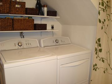 Full size washer and dryer for your convenience!