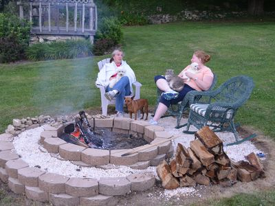 Bring your pets and sit by the fire pit