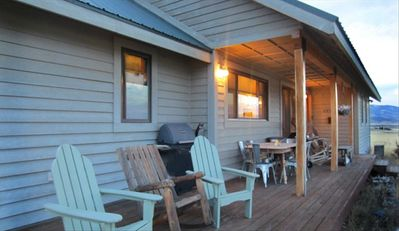 The back deck- happy hour starts here! Outdoor dining -sliding doors to kitchen!