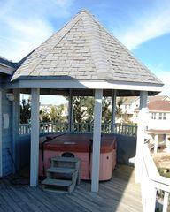 Corolla house photo - Gazebo on Top Level deck with therapeutic spa and excellent ocean view