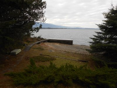 Sandpoint cabin rental - View from the deck in the fall