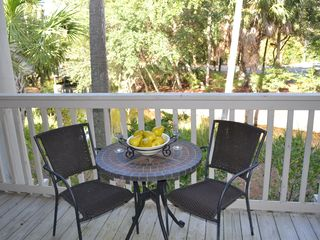 Wild Dunes condo photo - Enjoy Time on One of Two Balconies Overlooking the Lagoon