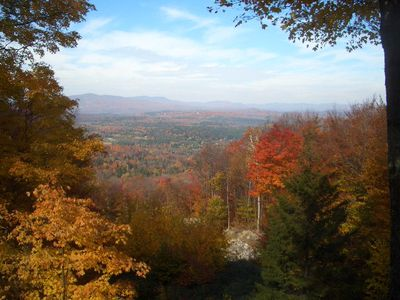 A View From Your Terrace and Patio of Fall Foliage