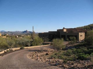Fountain Hills house photo - Long Private Driveway with 3 Car Garage