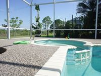 Villa surrounded by palm trees with solar heated pool for 2-4 people