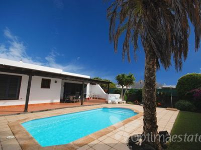 Playa Blanca villa rental - terrace and 8 x 4 mtr pool
