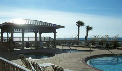 Gulf Crest Features 2 outdoor pools; 2 outdoor spas and pavillion