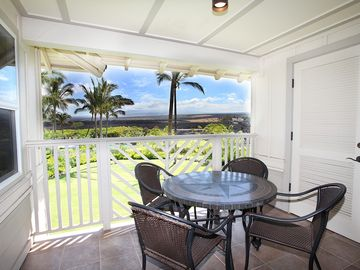 The Lanai - great views of Mauna Kea every morning