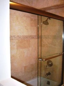 New Travertine Shower w/ Kohler Fixtures