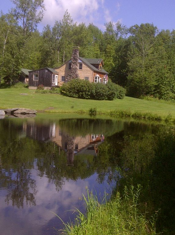 Underhill house rental - House as seen across our pond
