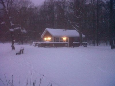 The Pond Cottage in winter