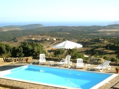 Pool view of the villa 'Su Coile'