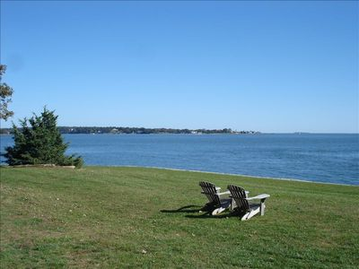 Direct Oceanfront on Long Island Sound Facing Faulkner's Island