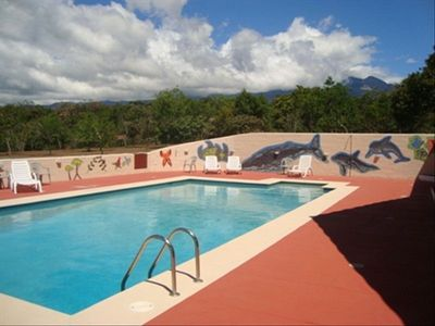 Soak up the sun around our 40' x 20' heated pool, Direct views of Volcan Baru.