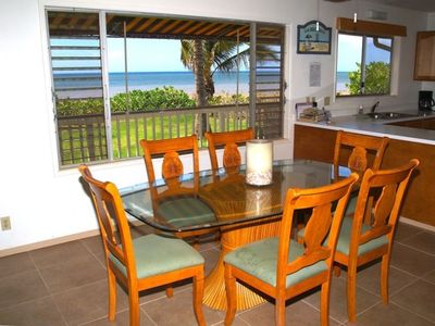 Even the inside dining area has an incredible ocean view!