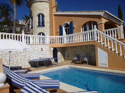 Beautiful Andalusian style villa with private pool and sea views