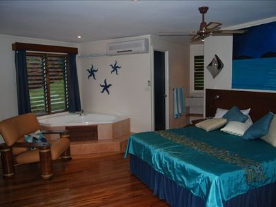 The Expansive Master Suite- In-Room, 2 Person, Jetted Tub, Desk, Sitting Area