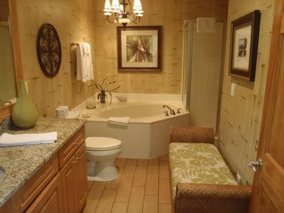 Master Bathroom with Whirlpool tub and seperate shower