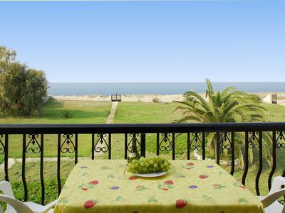 Acharavi apartment rental - View of beach from Stefania balcony
