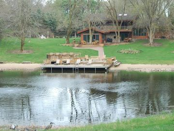Wautoma estate rental - Relax with your own private beach located on your own 5 acre non motorized lake