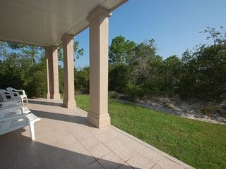 Fort Morgan property rental photo - Very private patio with apple space and seating.