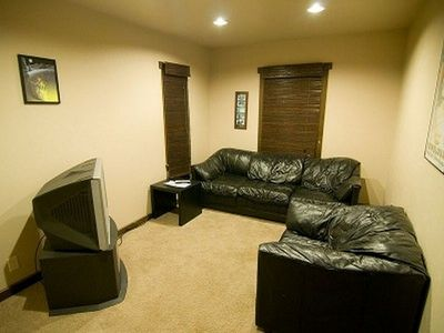 Media room. TV with premium movie channels.