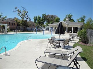 Gulfport villa photo - 5000 sq.ft. walk in pool /adjacent fenced playground/ heated spa