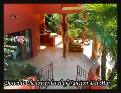 Looking down to the lower level at Cancion del Mar