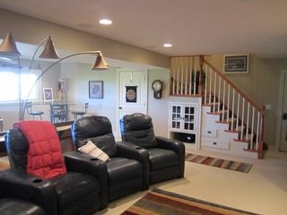 Theater Chairs in Family Room - Saugatuck / Douglas townhome vacation rental photo